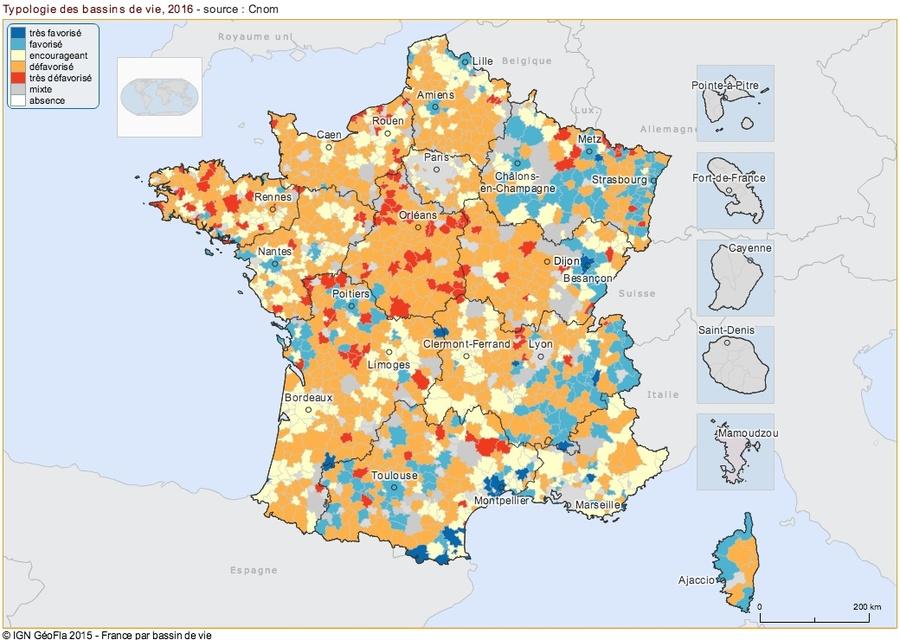 La cartographie dévoilée par l'Ordre des médecins propose par exemple d'identifier la démographie médicale et les zones en tension.
