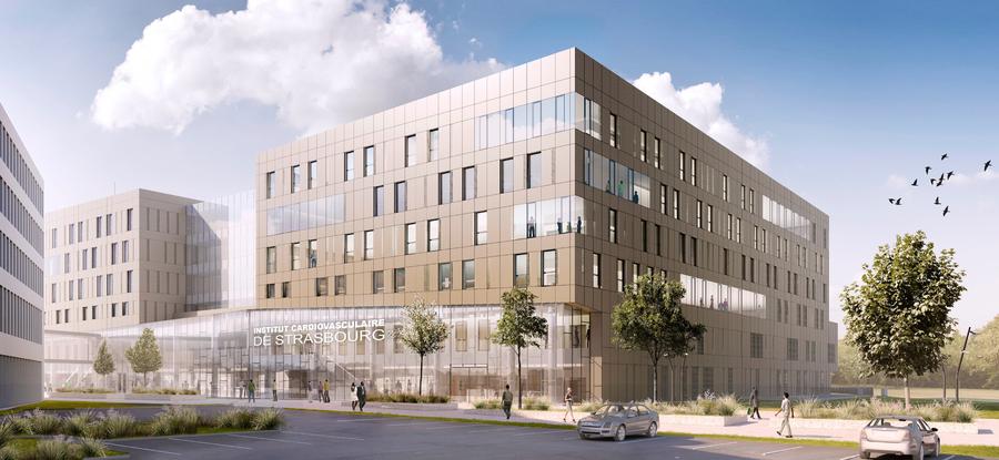 Le nouvel institut cardiovasculaire de Strasbourg.