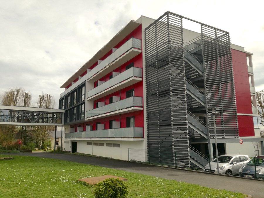 Le quatrième étage de ce bâtiment de l'Ehpad Saint-Joseph est occupé par les locataires Ker'âge.