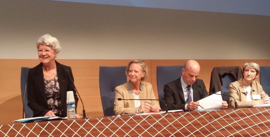Au CNCPH, les deux ministres ont été accueillis par Dominique Gillot (à droite) et Diane Cabouat.