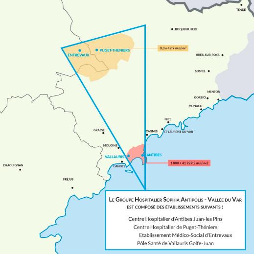 Le GH Sophia-Antipolis-Vallée du Var fédère quatre établissements des Alpes-Maritimes et Alpes-de-Haute-Provence.