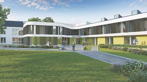 Le nouveau bâtiment reliera deux édifices aujourd'hui séparés.