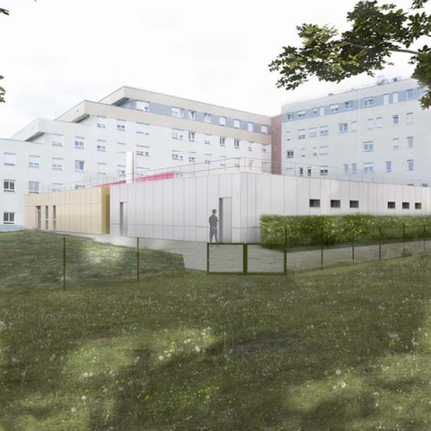 Le futur service de médecine nucléaire sera situé à proximité immédiate de l'hôpital Robert-Pax.
