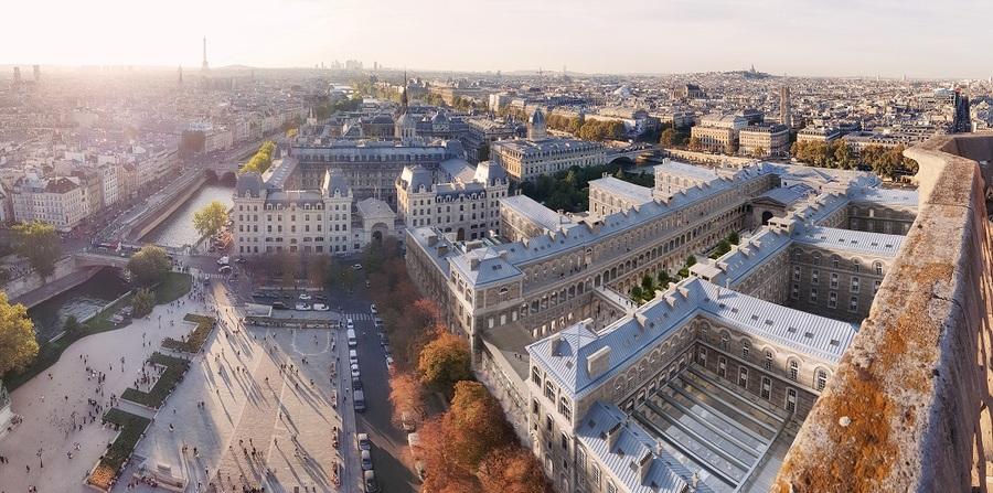 """Le volet """"parvis Notre-Dame"""" comprendra un pôle santé, un pôle habitats solidaires et une offre variée en commerces-restauration."""