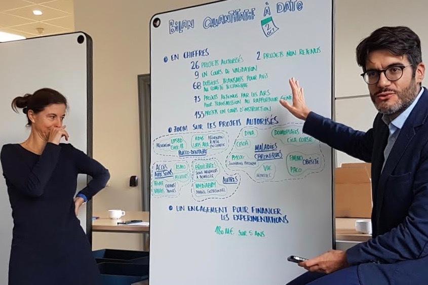 Natacha Lemaire, rapporteuse générale, et Ayden Tajahmady, directeur adjoint de la stratégie, des études et des statistiques de la Caisse nationale d'assurance maladie, ont présenté conjointement le dispositif article 51 ce 2 octobre.