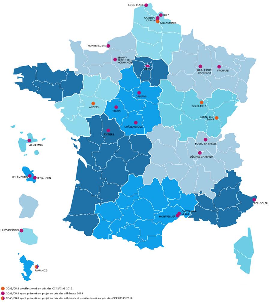 Au total, les projets présentés et présélectionnés émanent de onze régions métropolitaines et quatre départements ou territoires d'outre-mer (Dom-Tom).