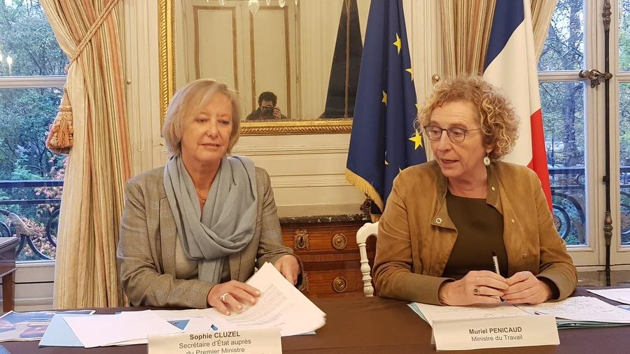 Sophie Cluzel, secrétaire d'État chargée des Personnes handicapées, et Muriel Pénicaud, ministre du Travail, ont présenté la stratégie nationale interministérielle pour l'emploi des personnes handicapées.