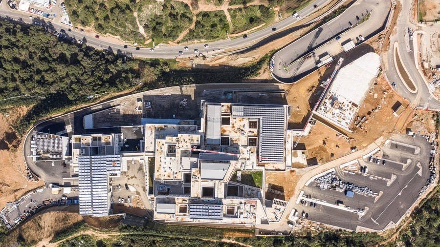 Le directeur du projet espère la livraison du chantier avant la fin du 1er semestre 2021, sauf en cas de rebond de l'épidémie. (CH d'Ajaccio)