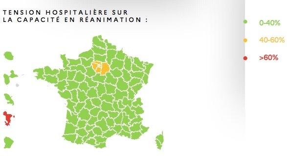 La tension dans les services de réanimation reste importante en Île-de-France et à Mayotte. (Gouvernement)