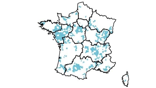 Les EPCI en classe F présentent une population socialement plutôt favorisée, avec des déplacements domicile-travail importants. (Fnors)