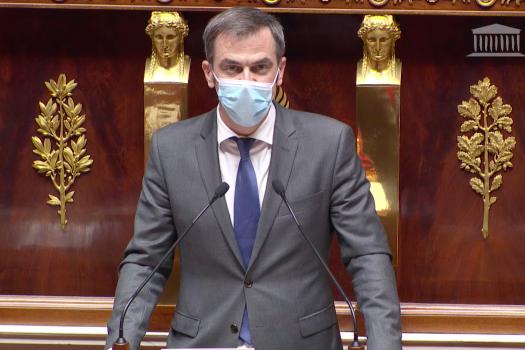 Olivier Véran ouvre l'examen du projet de loi de financement de la sécurité sociale pour 2021 devant les députés. (capture d'écran Assemblée nationale)