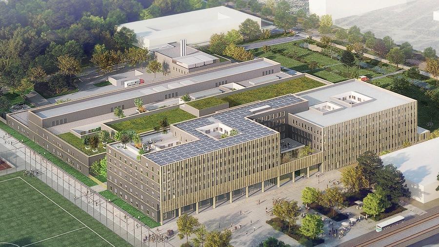 Début2020, c'est le cabinet d'architecture Scau associé au groupe BTPEiffage qui a remporté l'appel d'offres visant à construire d'ici2024 sur le plateau de Saclay le nouveau GH Nord-Essonne.(Scau architecture)