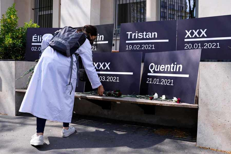 L'Isni a organisé le 17 avril une mobilisation en hommage aux cinq internes qui se sont donné la mort depuis le début de l'année. (Isni)