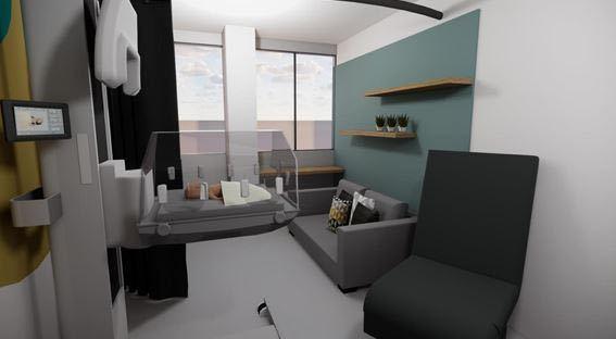 L'aménagement de cette chambre et des commodités associées a coûté 11 000 euros, financés par les dons et les mécènes de l'association. (CHU de Nantes/Pyram Néoform)